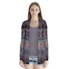 1a Mirror Lost Abstract  (2) Drape Collar Cardigan