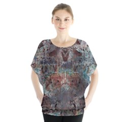 1a Mirror Lost Abstract  (2) Blouse
