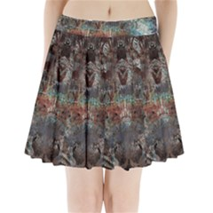1a Mirror Lost Abstract  (2) Pleated Mini Skirt