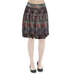 1a Mirror Lost Abstract  (2) Pleated Skirt