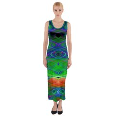 Neon Night Dance Party Fitted Maxi Dress