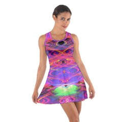 Neon Night Dance Party Pink Purple Cotton Racerback Dress