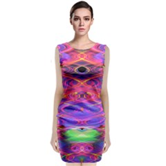 Neon Night Dance Party Pink Purple Classic Sleeveless Midi Dress