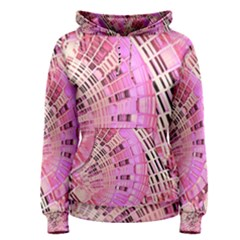Pretty Pink Circles Curves Pattern Women s Pullover Hoodie