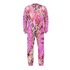 Pretty Pink Circles Curves Pattern OnePiece Jumpsuit (Kids)