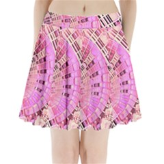 Pretty Pink Circles Curves Pattern Pleated Mini Skirt
