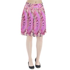 Pretty Pink Circles Curves Pattern Pleated Skirt