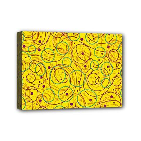 Yellow abstract art Mini Canvas 7  x 5