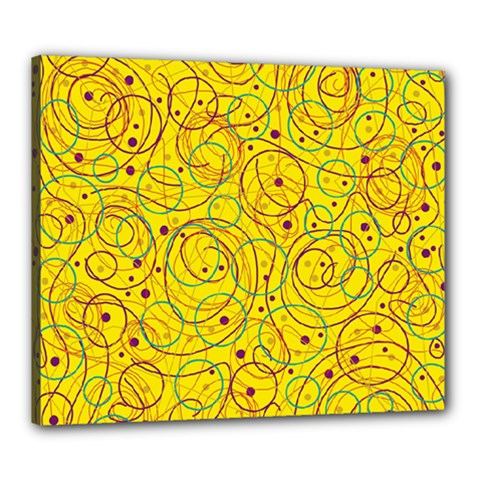 Yellow abstract art Canvas 24  x 20