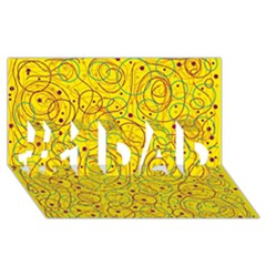 Yellow abstract art #1 DAD 3D Greeting Card (8x4)