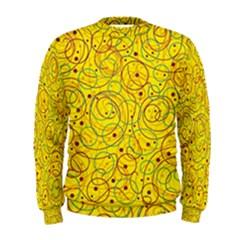 Yellow abstract art Men s Sweatshirt