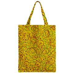 Yellow abstract art Zipper Classic Tote Bag