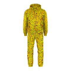 Yellow abstract art Hooded Jumpsuit (Kids)