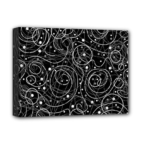 Black and white magic Deluxe Canvas 16  x 12