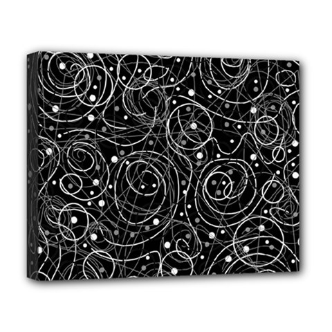 Black and white magic Deluxe Canvas 20  x 16