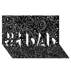 Black and white magic #1 DAD 3D Greeting Card (8x4)