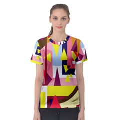 Colorful abstraction Women s Sport Mesh Tee