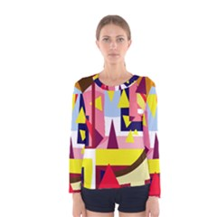 Colorful abstraction Women s Long Sleeve Tee