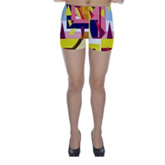 Colorful abstraction Skinny Shorts