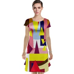 Colorful abstraction Cap Sleeve Nightdress