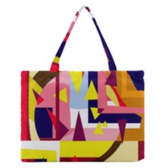 Colorful Abstraction Medium Zipper Tote Bag