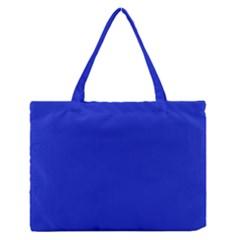 Persian Blue Colour Medium Zipper Tote Bag