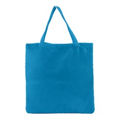 Pacific Blue Colour Grocery Tote Bag