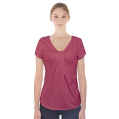 Night Shadz Colour Short Sleeve Front Detail Top