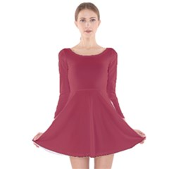 Night Shadz Colour Long Sleeve Velvet Skater Dress