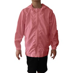 Mona Lisa Pink Colour Hooded Wind Breaker (Kids)