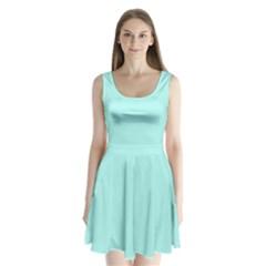Mint Colour Split Back Mini Dress