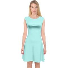 Mint Colour Capsleeve Midi Dress