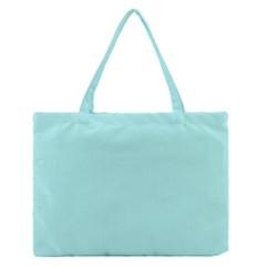 Mint Colour Medium Zipper Tote Bag