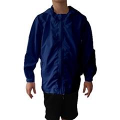 Midnight Blue Colour Hooded Wind Breaker (Kids)