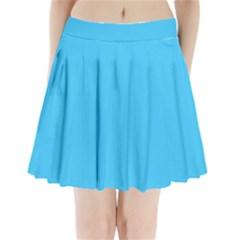 Maya Blue Colour Pleated Mini Skirt