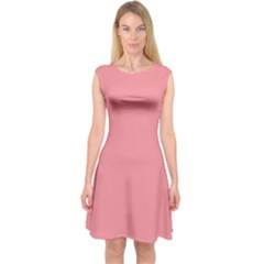 Mauvelous Colour Capsleeve Midi Dress