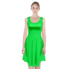 Malachite Colour Racerback Midi Dress