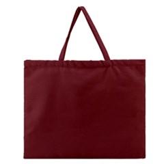 Mahogany Colour Zipper Large Tote Bag