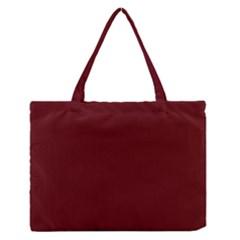 Mahogany Colour Medium Zipper Tote Bag