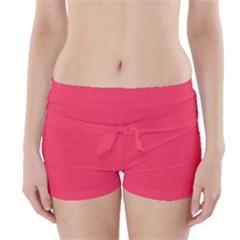 Lovely Pink Colour Boyleg Bikini Wrap Bottoms
