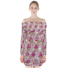Decor Long Sleeve Off Shoulder Dress