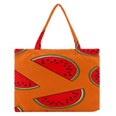 Melon Fruit Pattern Medium Zipper Tote Bag