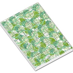 Gray decorative abstraction Large Memo Pads