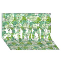 Gray decorative abstraction #1 MOM 3D Greeting Cards (8x4)