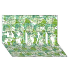 Gray decorative abstraction #1 DAD 3D Greeting Card (8x4)