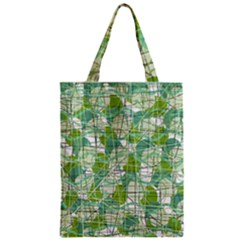 Gray decorative abstraction Zipper Classic Tote Bag