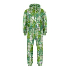 Gray decorative abstraction Hooded Jumpsuit (Kids)