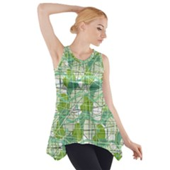 Gray decorative abstraction Side Drop Tank Tunic