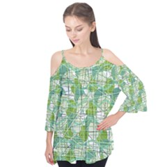 Gray decorative abstraction Flutter Tees