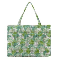Gray decorative abstraction Medium Zipper Tote Bag
